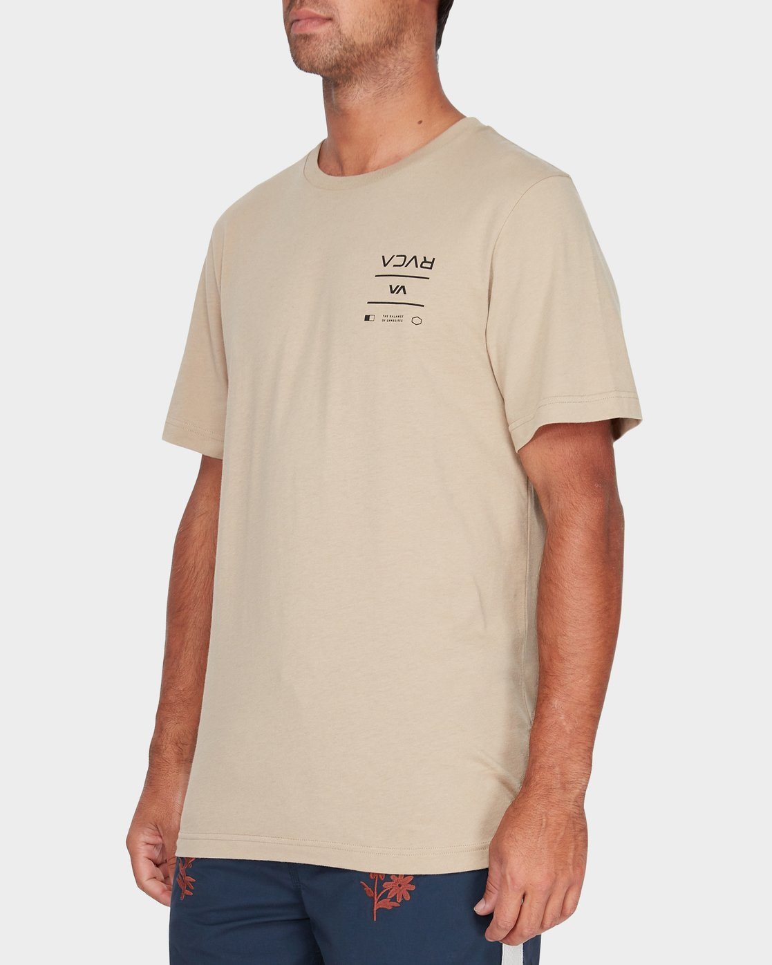 1 RVCA Between The Lines Short Sleeve T-Shirt Yellow R182053 RVCA