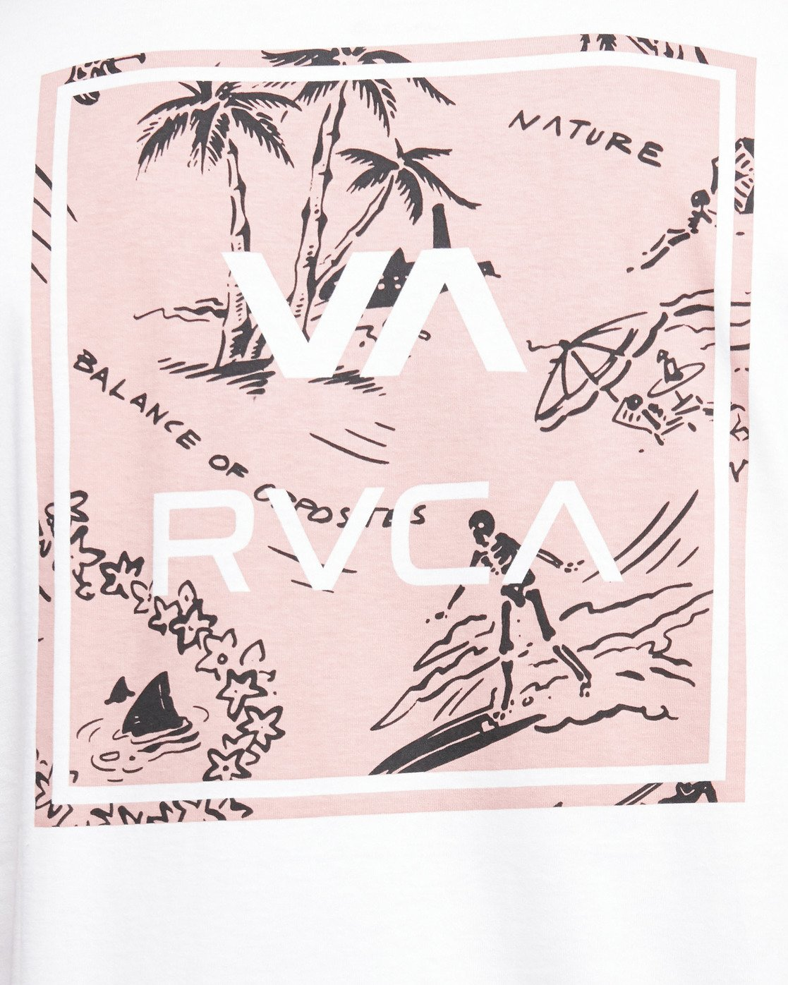 5 VA ALL THE WAYS MULTI TEE Pink R182062 RVCA