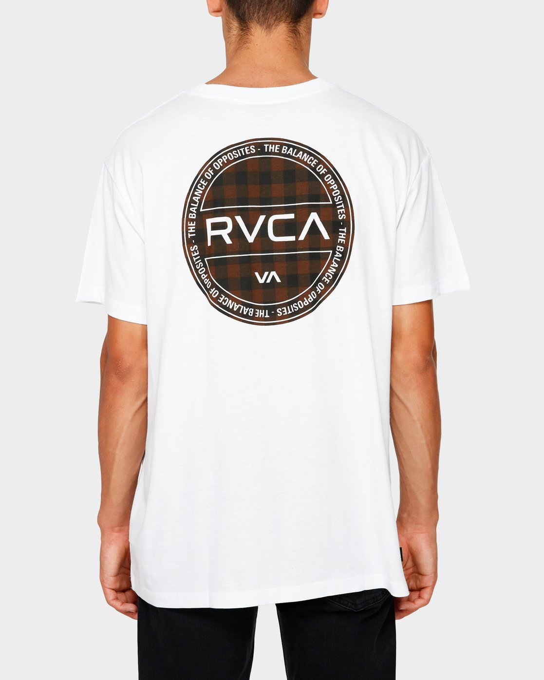 3 RVCA Checkers Short Sleeve T-Shirt  R182071 RVCA