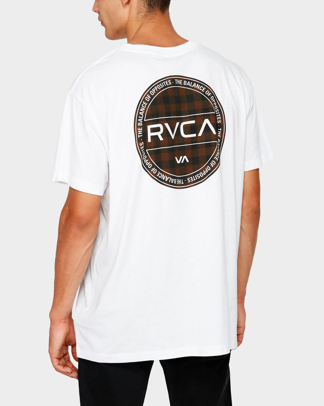 0 RVCA Checkers Short Sleeve T-Shirt  R182071 RVCA