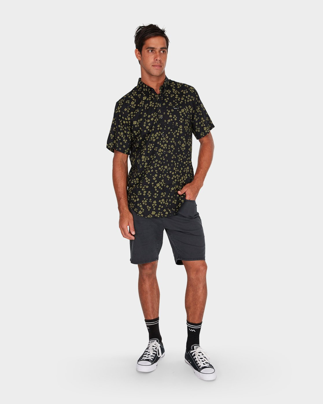 3 RVCA Rosa Short Sleeve Shirt  R182185 RVCA