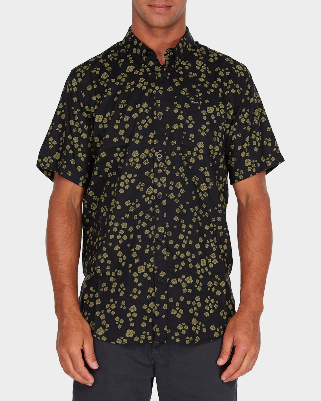0 RVCA Rosa Short Sleeve Shirt  R182185 RVCA
