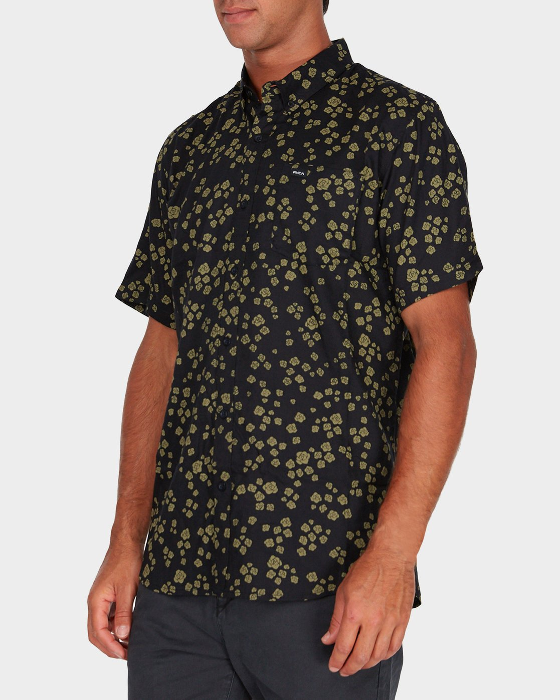 1 RVCA Rosa Short Sleeve Shirt  R182185 RVCA
