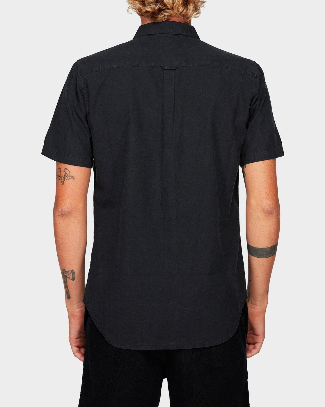 2 Crushed Short Sleeve Shirt Black R182191 RVCA