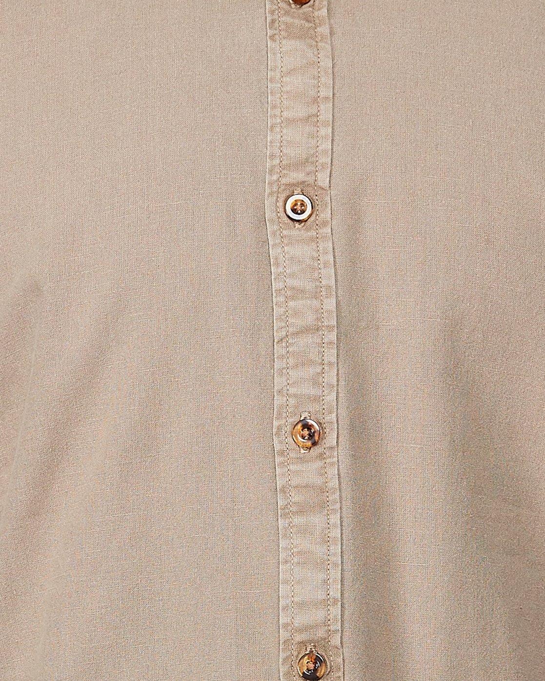 4 Crushed Short Sleeve Shirt Brown R182191 RVCA