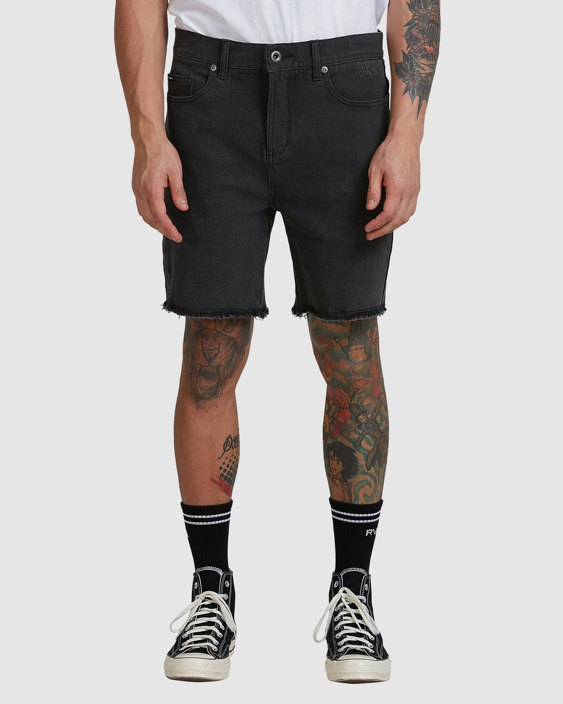 1 Rvca Rockers Walkshort - Black Fade Black R182313 RVCA