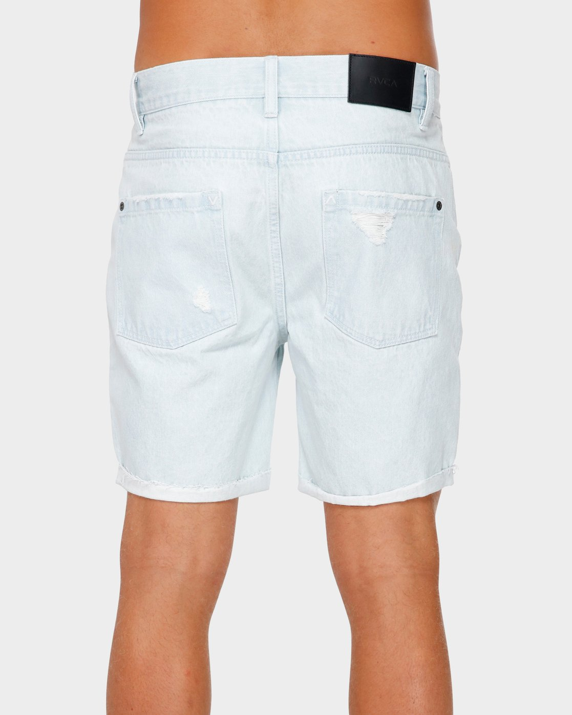 2 RVCA Rockers Cuffed Denim Short White R182317 RVCA