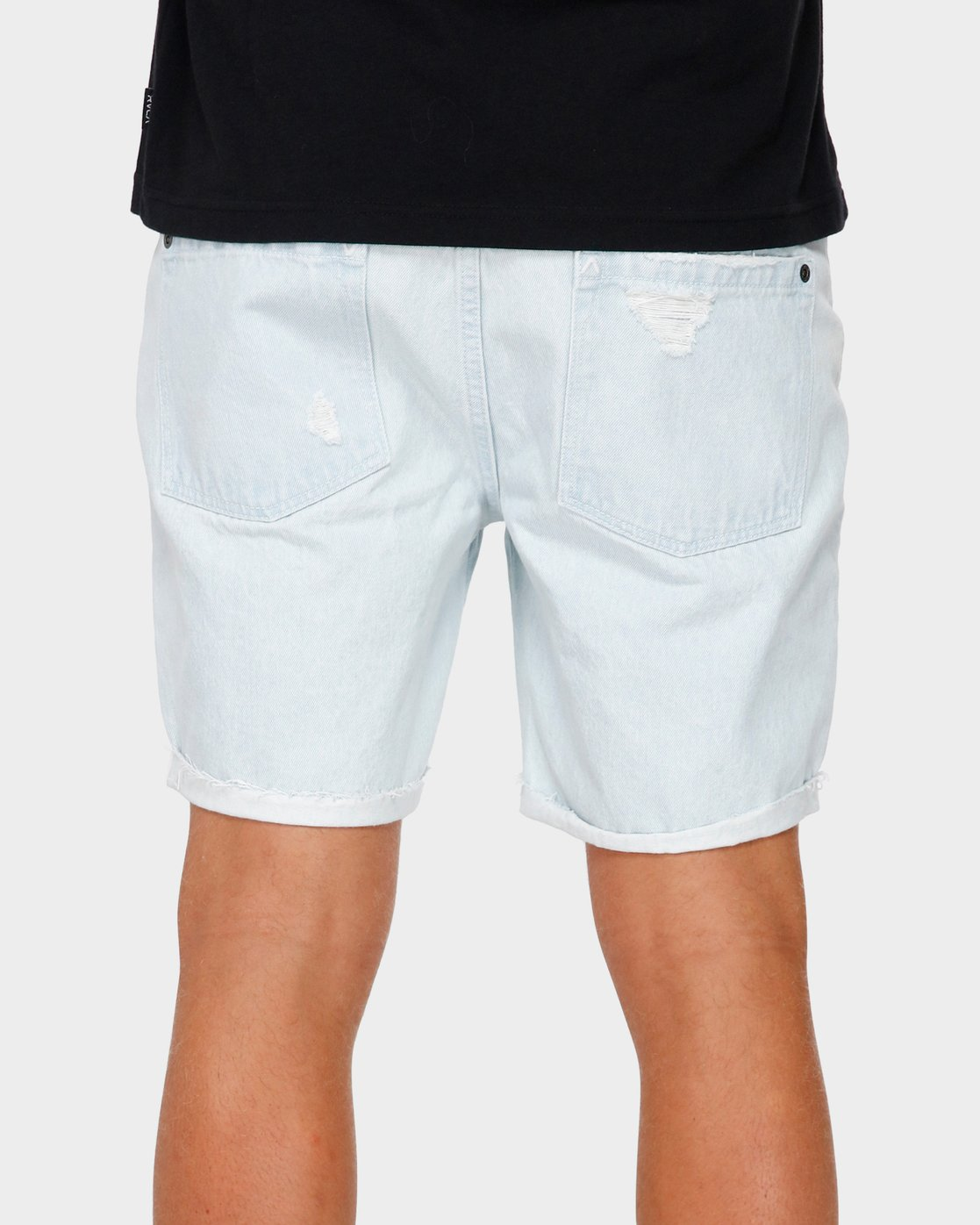 5 RVCA Rockers Cuffed Denim Short White R182317 RVCA