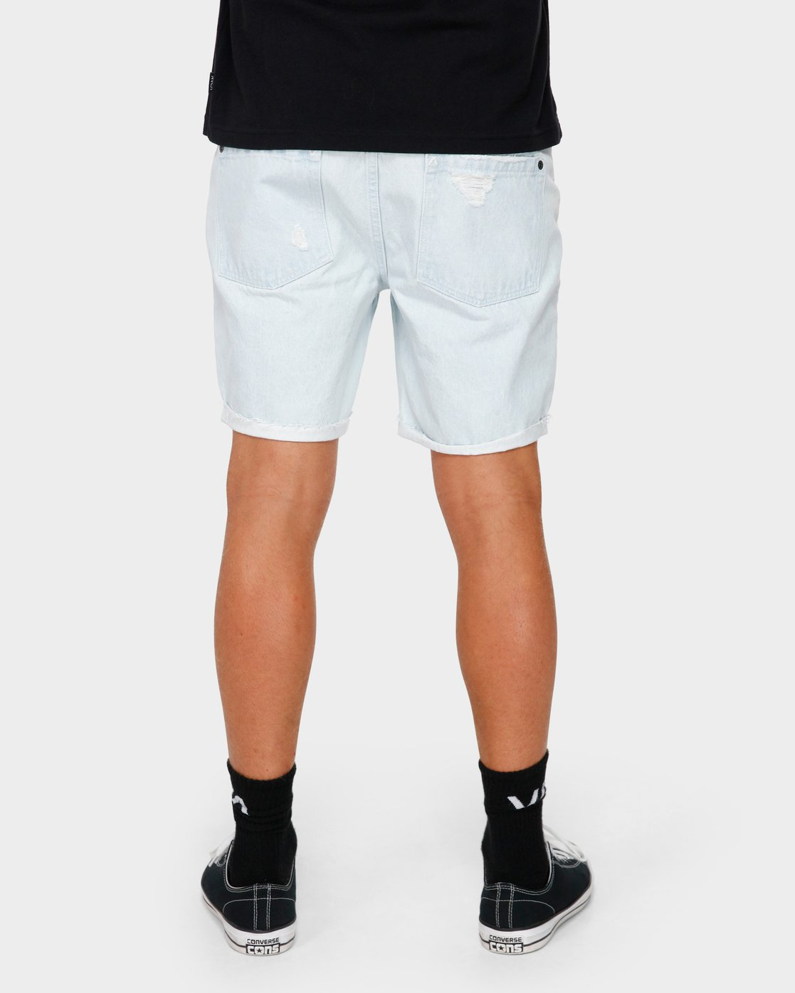 8 RVCA Rockers Cuffed Denim Short White R182317 RVCA