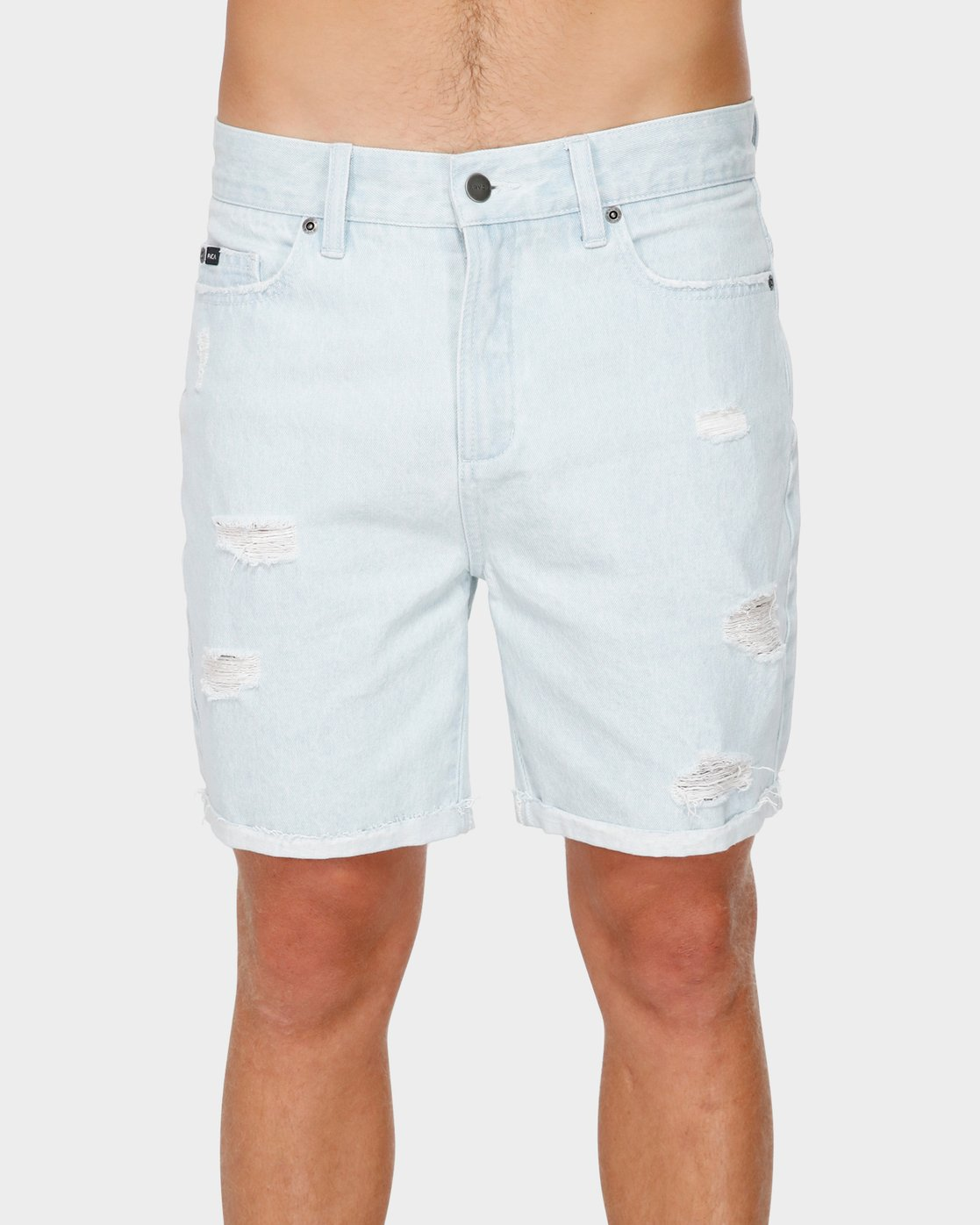 1 RVCA Rockers Cuffed Denim Short White R182317 RVCA
