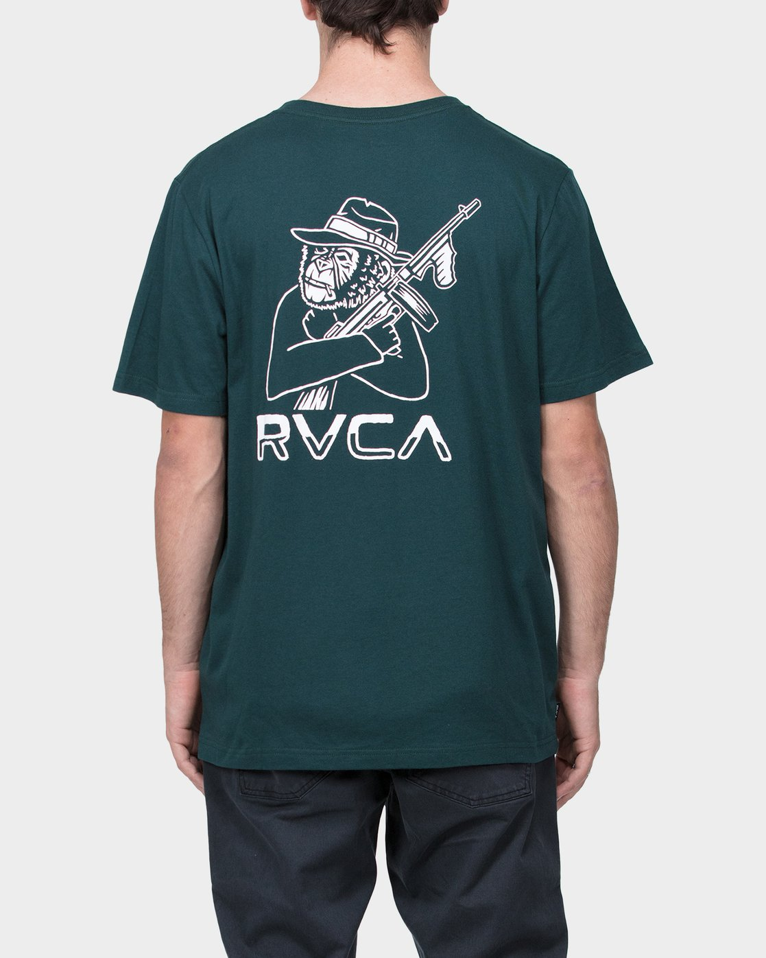 2 Black Hats T-Shirt  R183049 RVCA