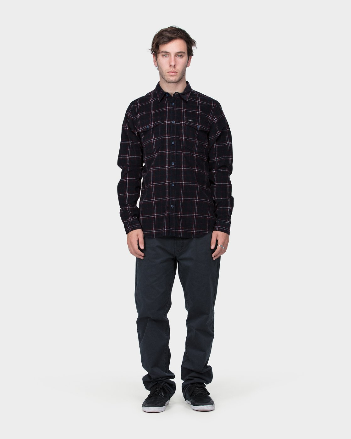3 Tacked Long Sleeve Shirt  R183181 RVCA