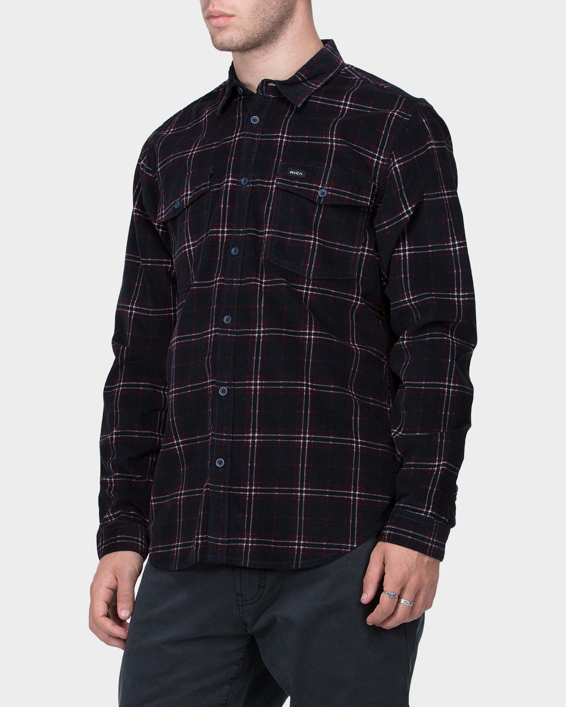 1 Tacked Long Sleeve Shirt  R183181 RVCA