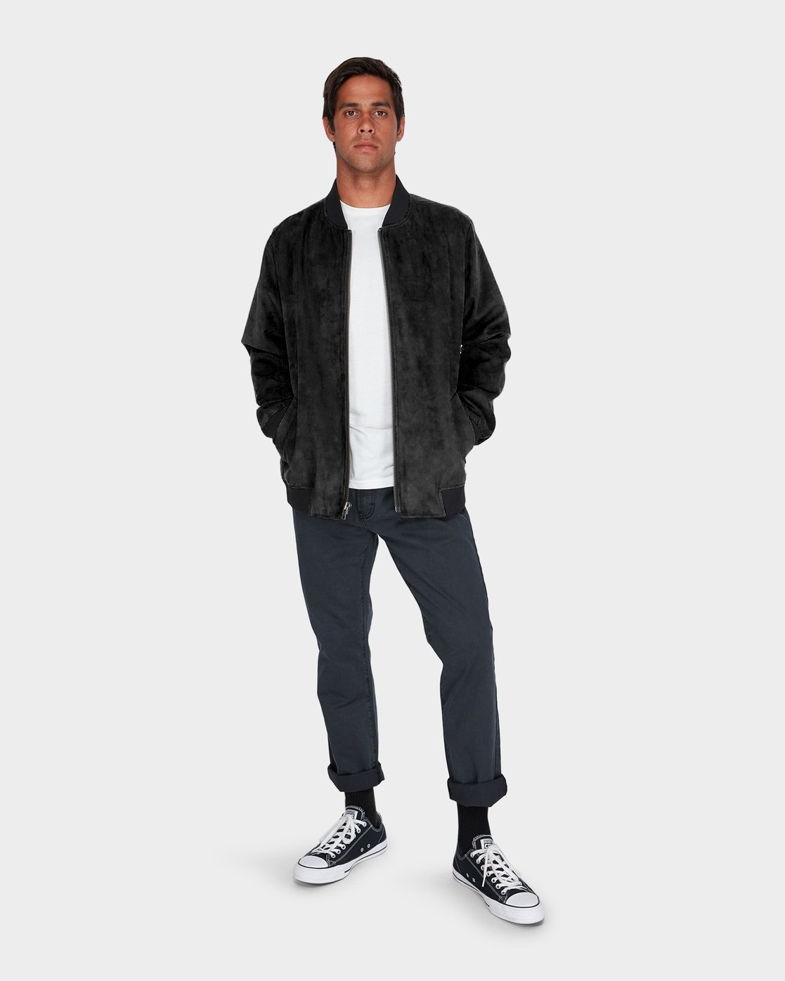 3 RVCA Suede Out Jacket  R183434 RVCA