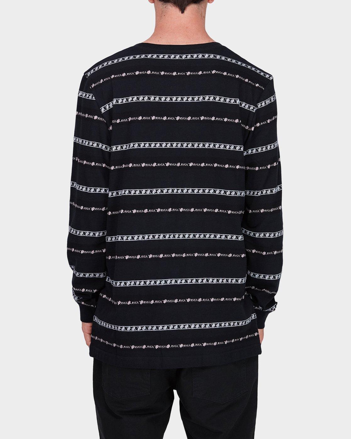 2 Oblow Rose Stripe Long Sleeve T-Shirt  R184097 RVCA