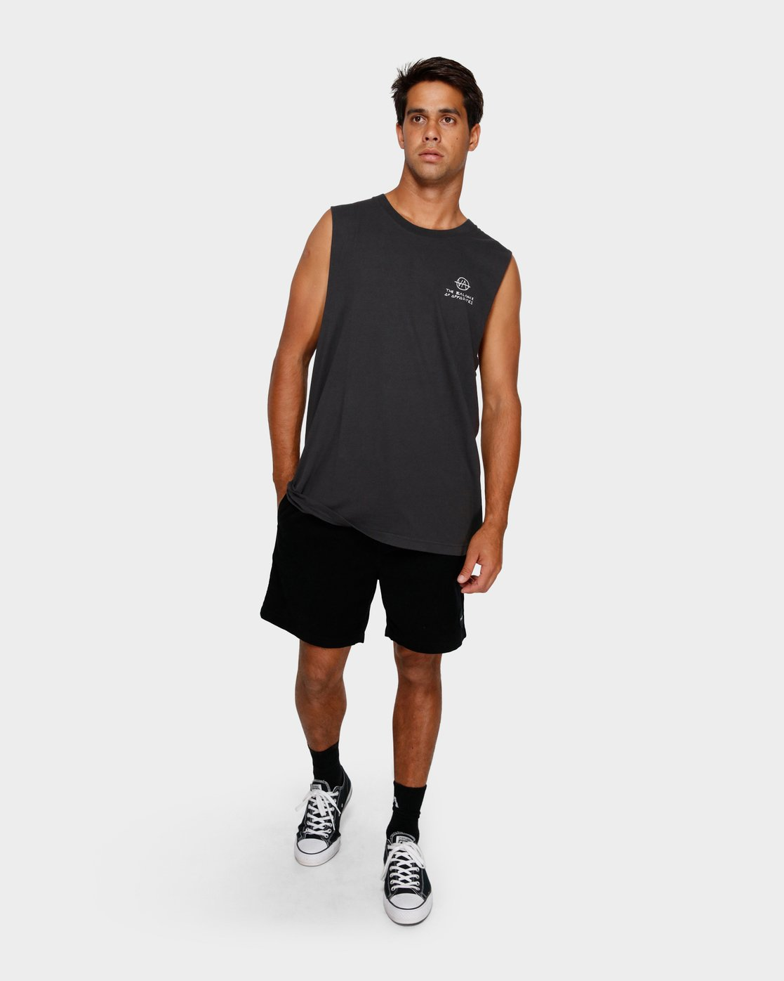 5 RVCA Split decision Muscle Black R191006 RVCA