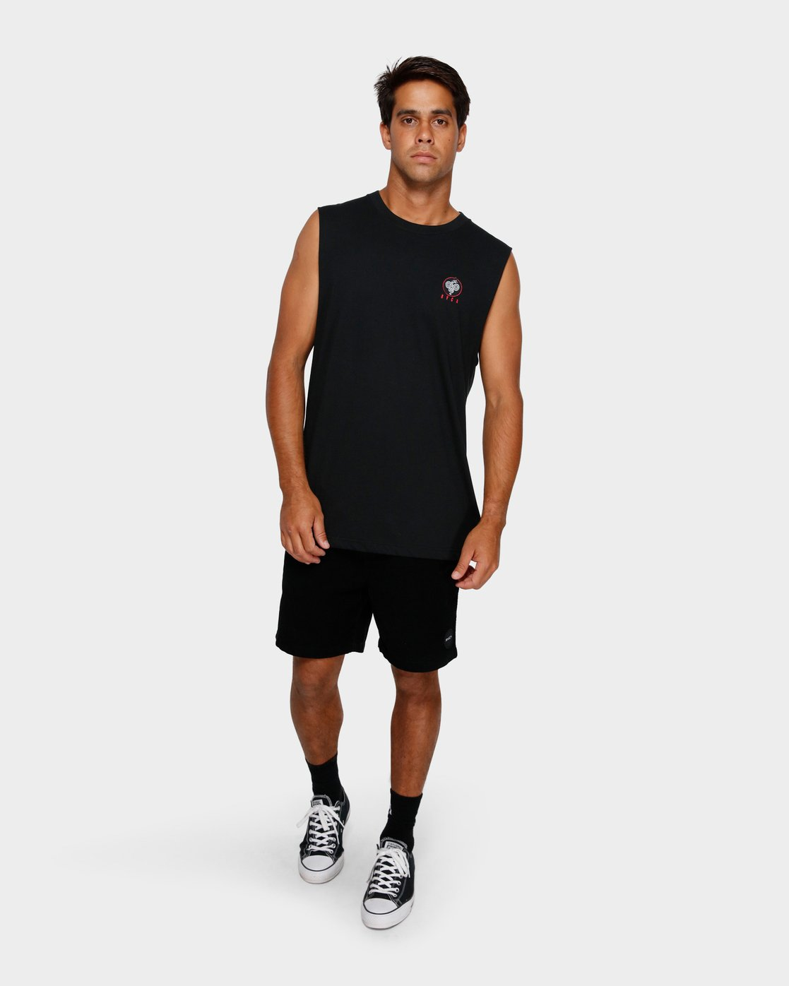 5 RVCA Serpent Muscle T-Shirt Black R191011 RVCA