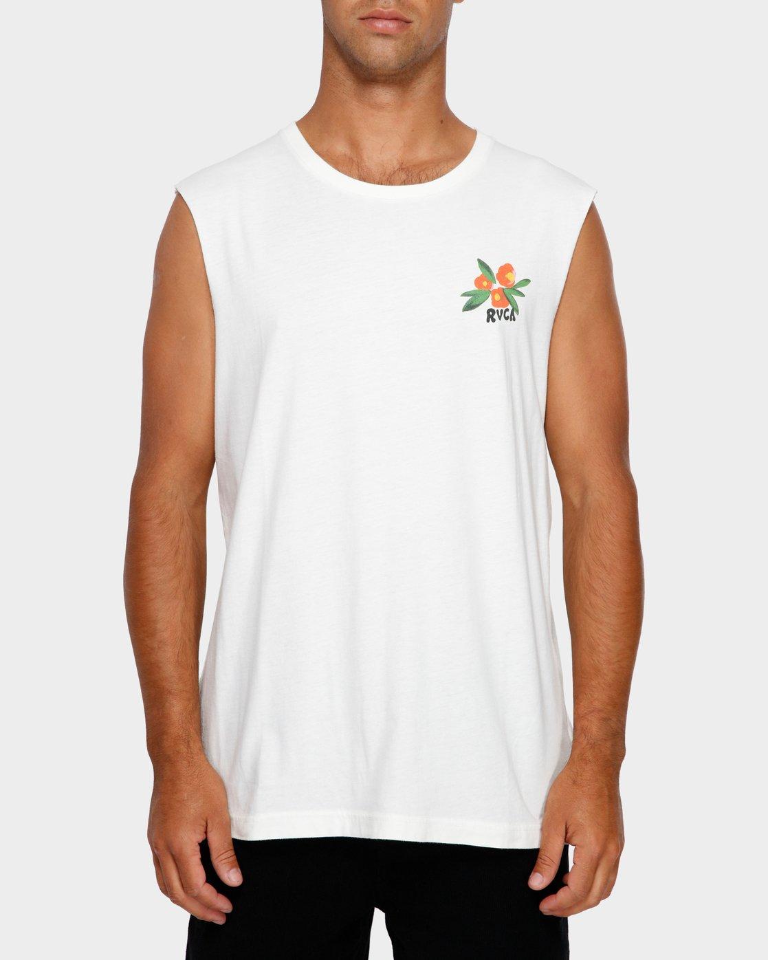 2 Jungle Muscle T-Shirt White R191013 RVCA