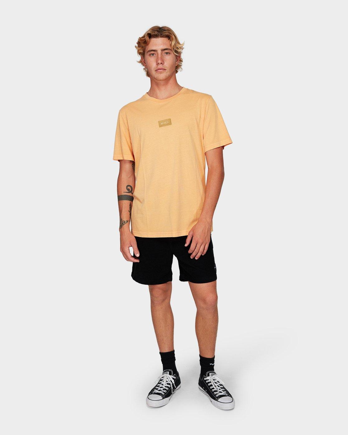 3 Focus 2.0 T-Shirt Orange R191048 RVCA