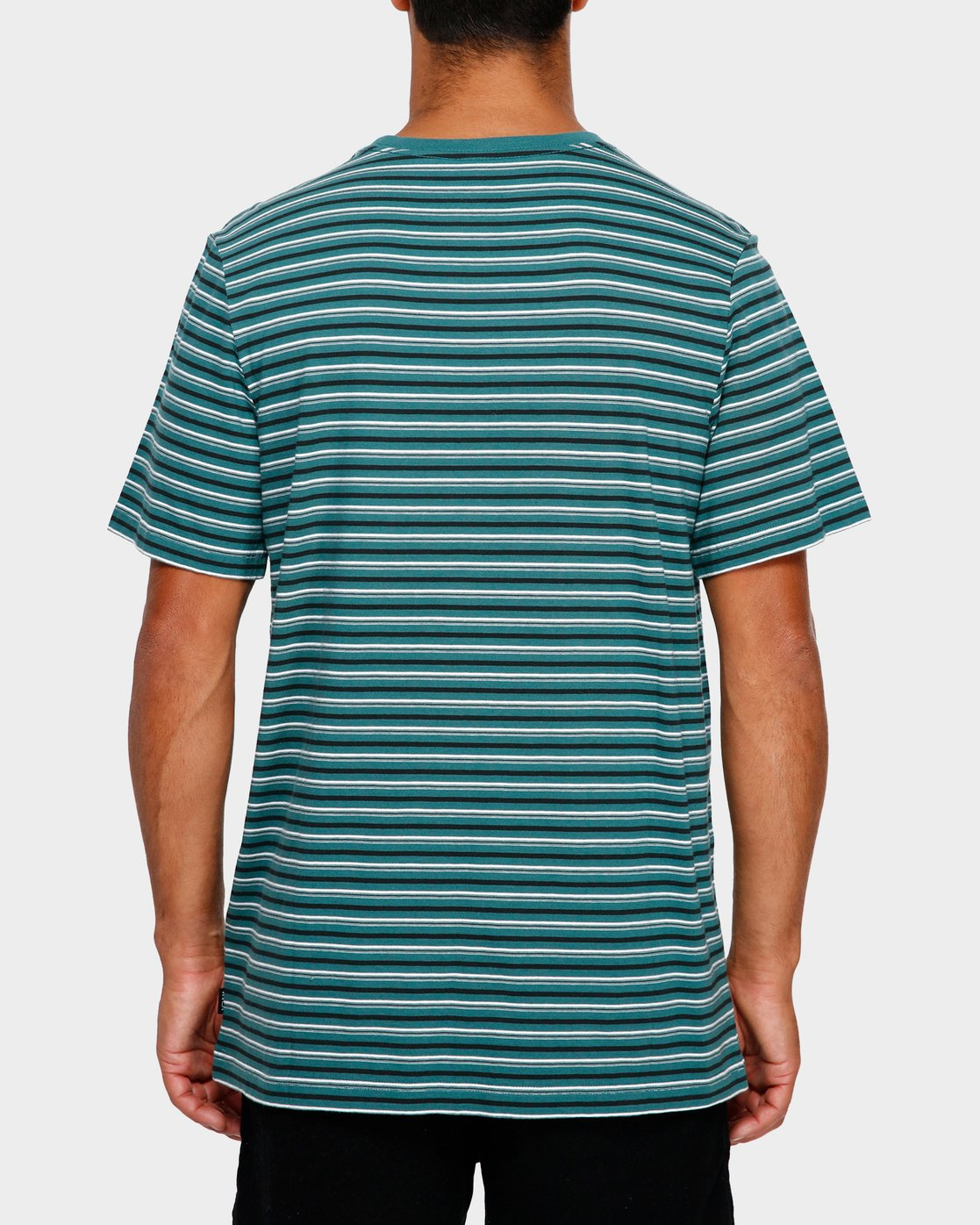 3 RVCA Focus Stripe T-Shirt Green R191049 RVCA