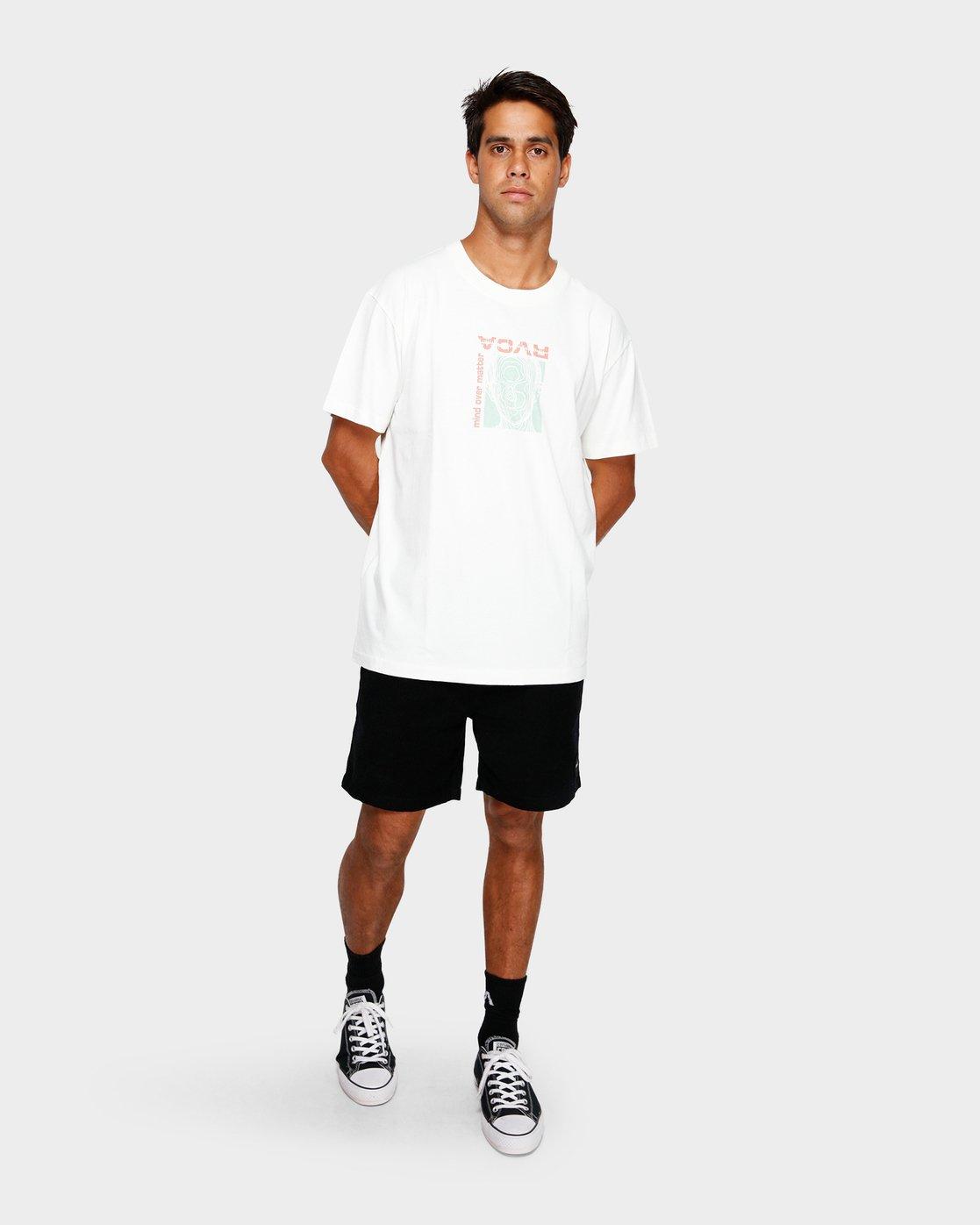 4 Mind Control T-Shirt White R191051 RVCA