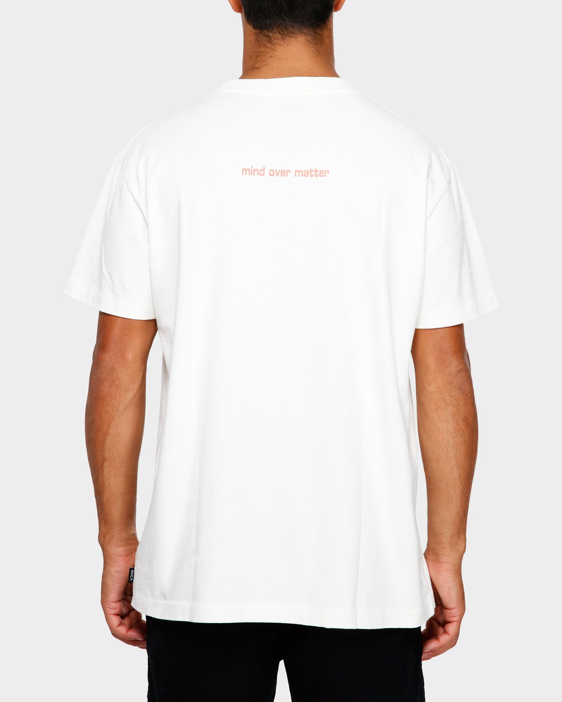 3 Mind Control T-Shirt White R191051 RVCA