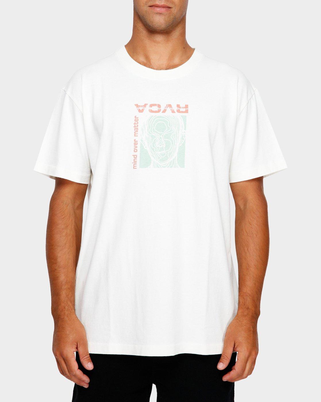 1 Mind Control T-Shirt White R191051 RVCA