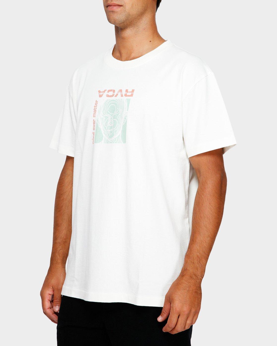 2 Mind Control T-Shirt White R191051 RVCA
