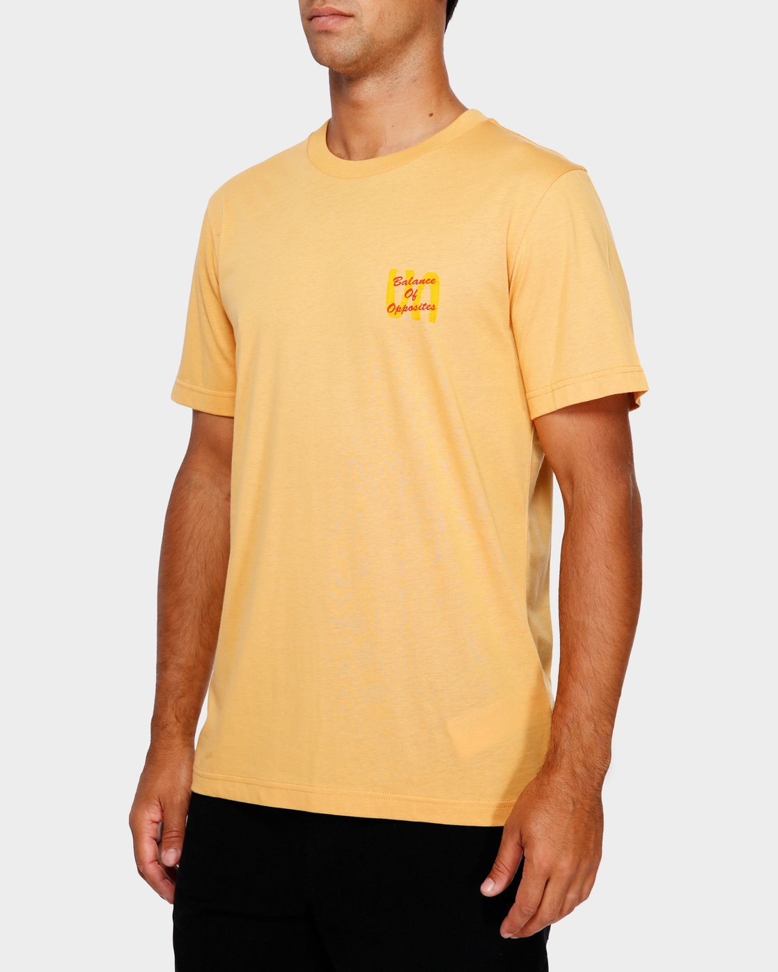3 Throw Down T-Shirt Orange R191052 RVCA