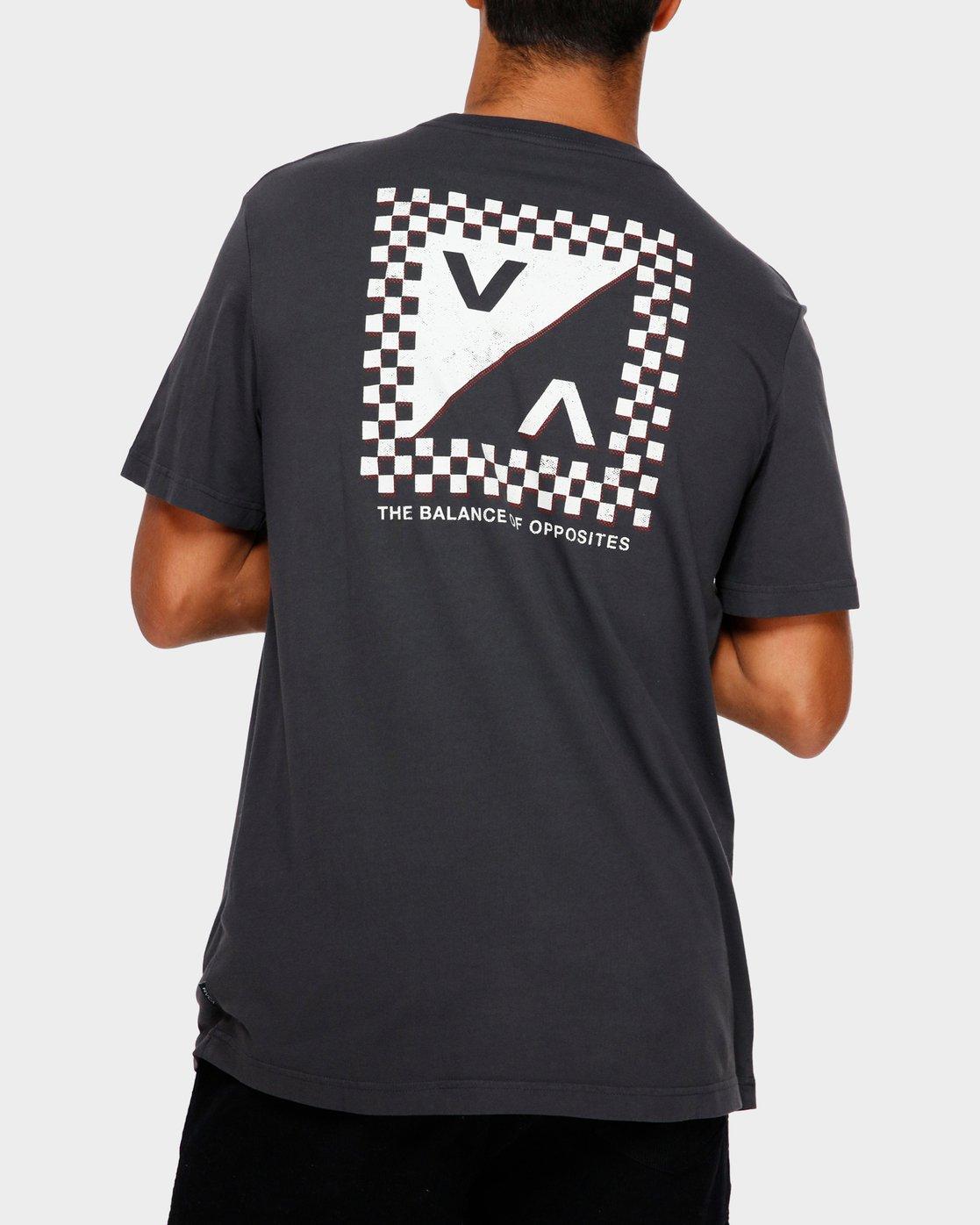 1 Check Mate T-Shirt Black R191057 RVCA