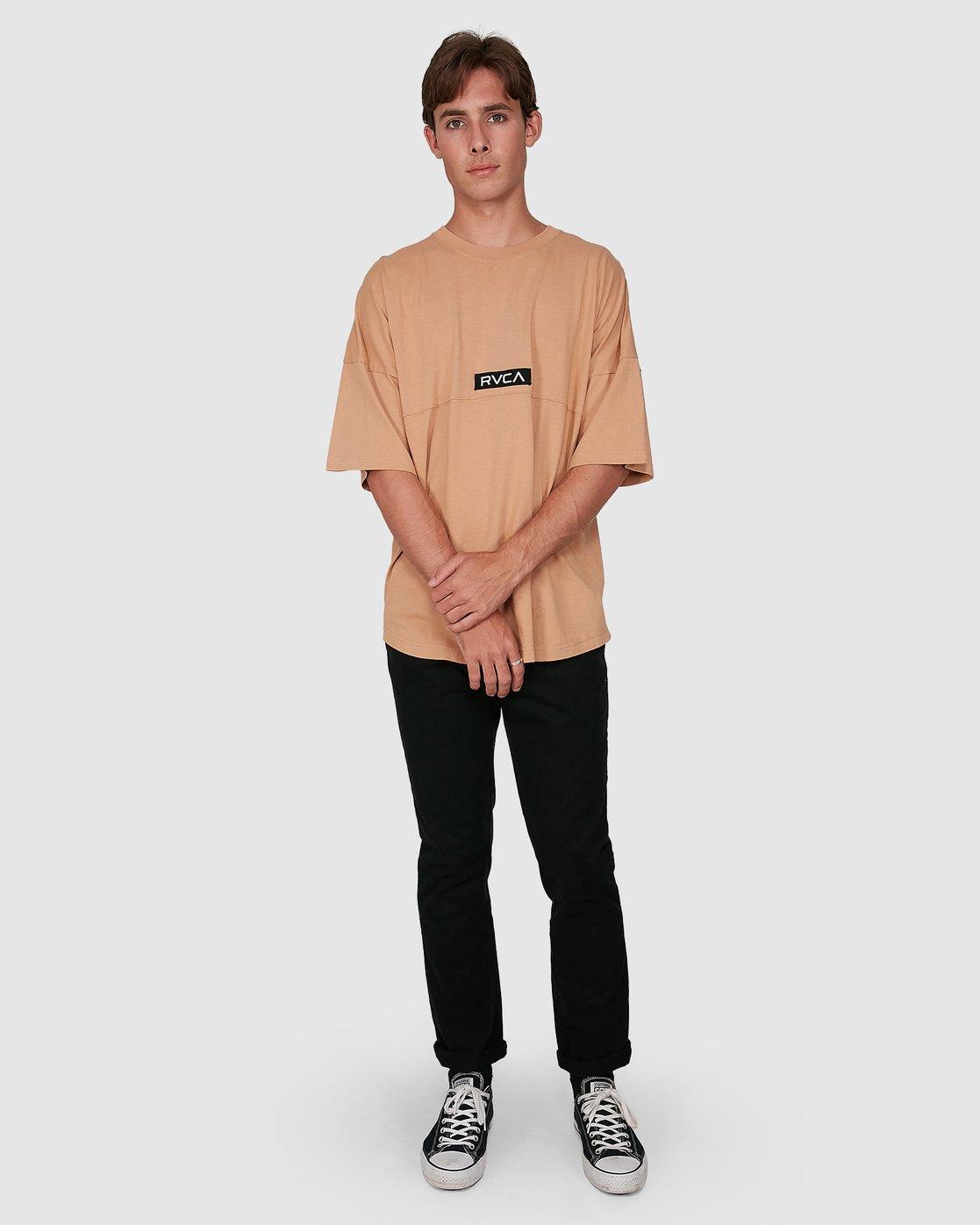 5 Harajuku Short Sleeve Tee Beige R191058 RVCA