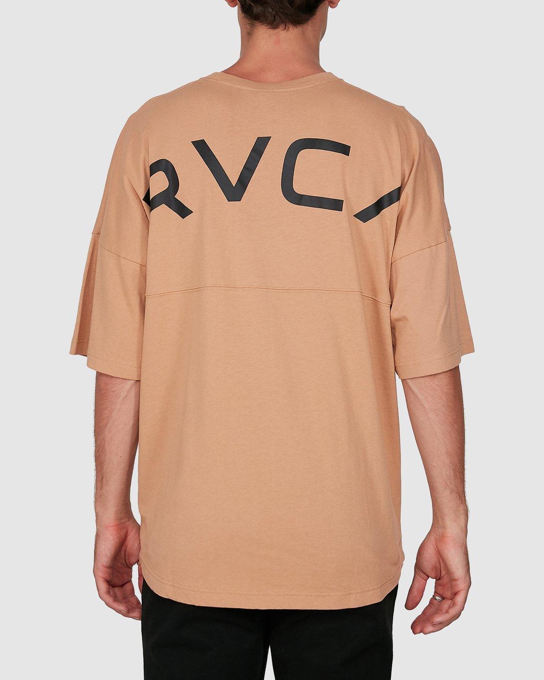 2 Harajuku Short Sleeve Tee Beige R191058 RVCA