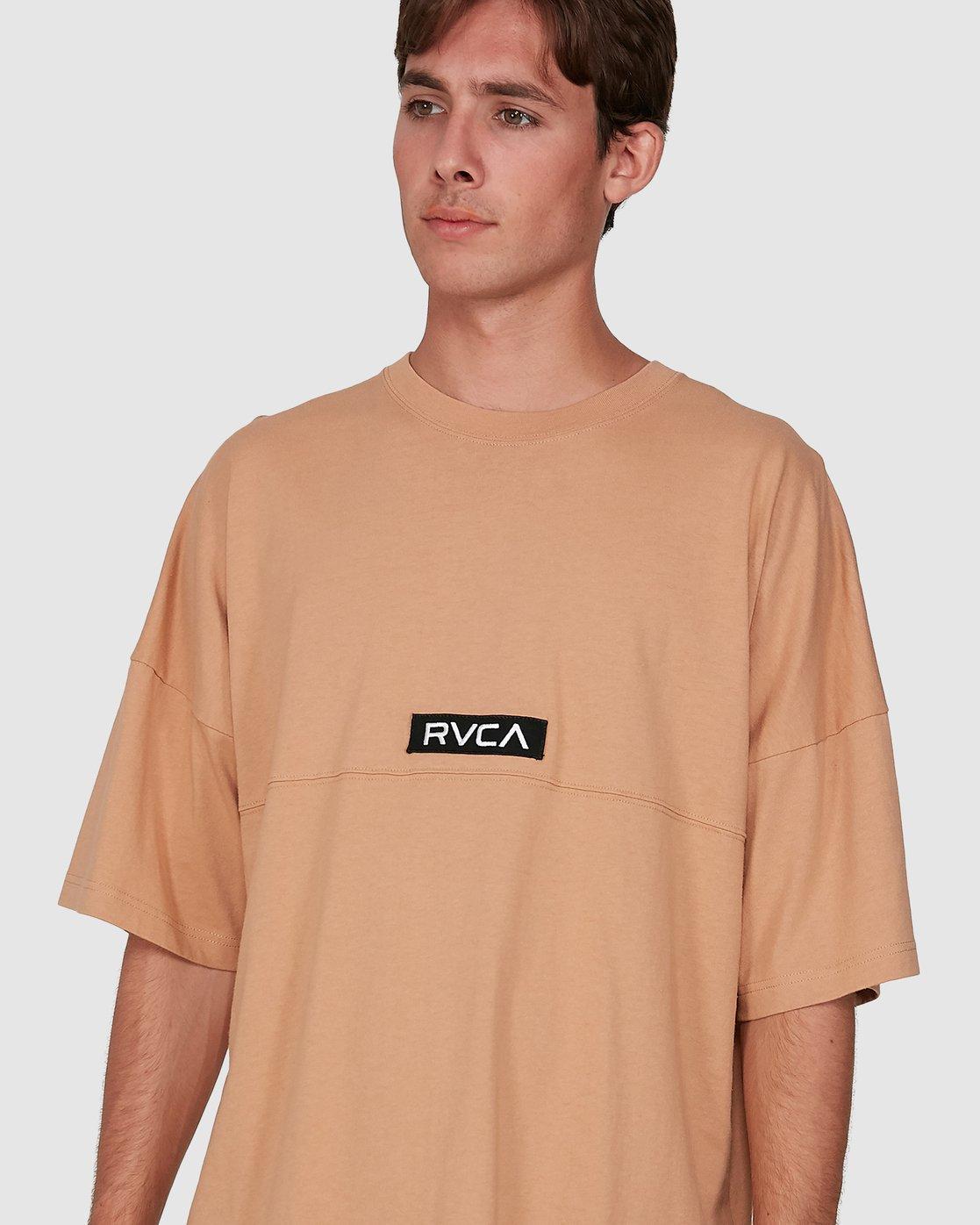 3 Harajuku Short Sleeve Tee Beige R191058 RVCA