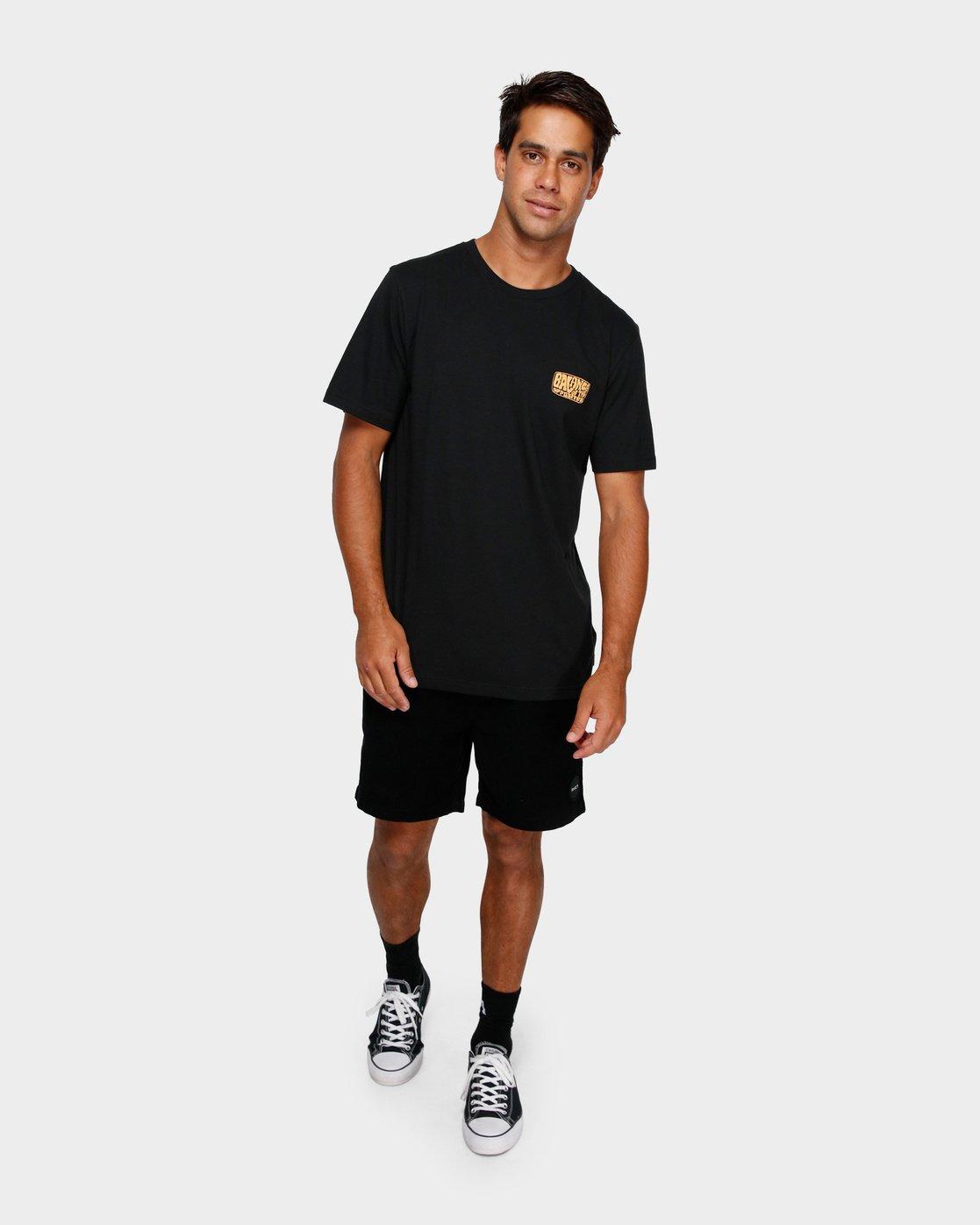 4 Stack Em High T-Shirt Black R191060 RVCA