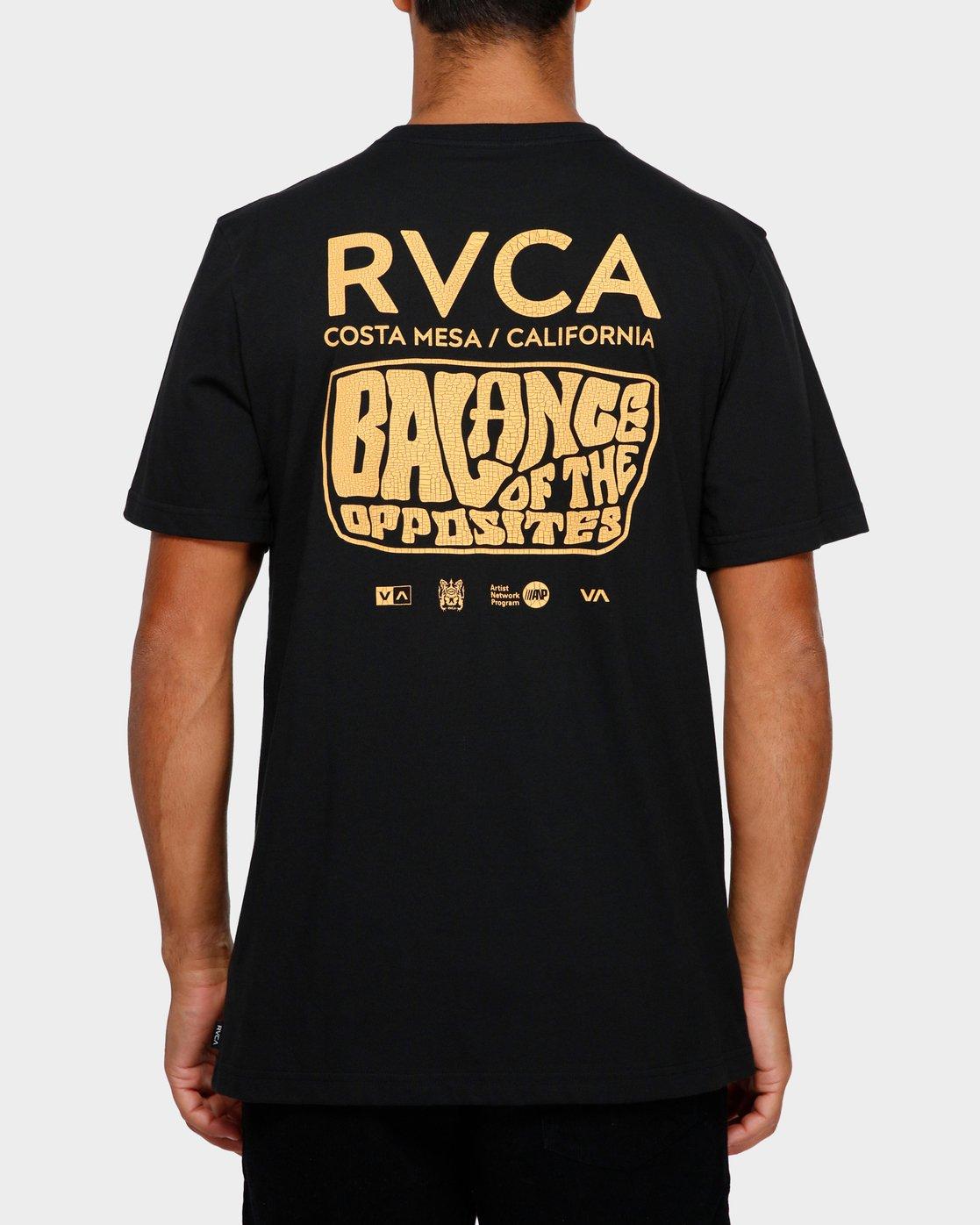 3 Stack Em High T-Shirt Black R191060 RVCA