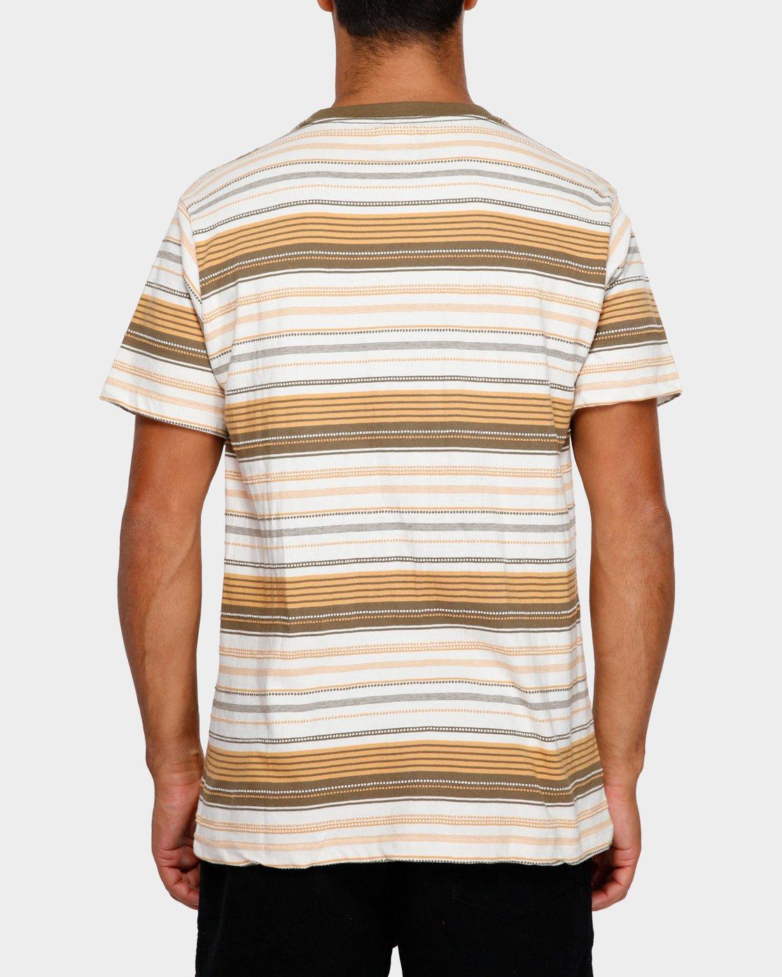 3 Deadbeat Stripe T-Shirt  R191064 RVCA