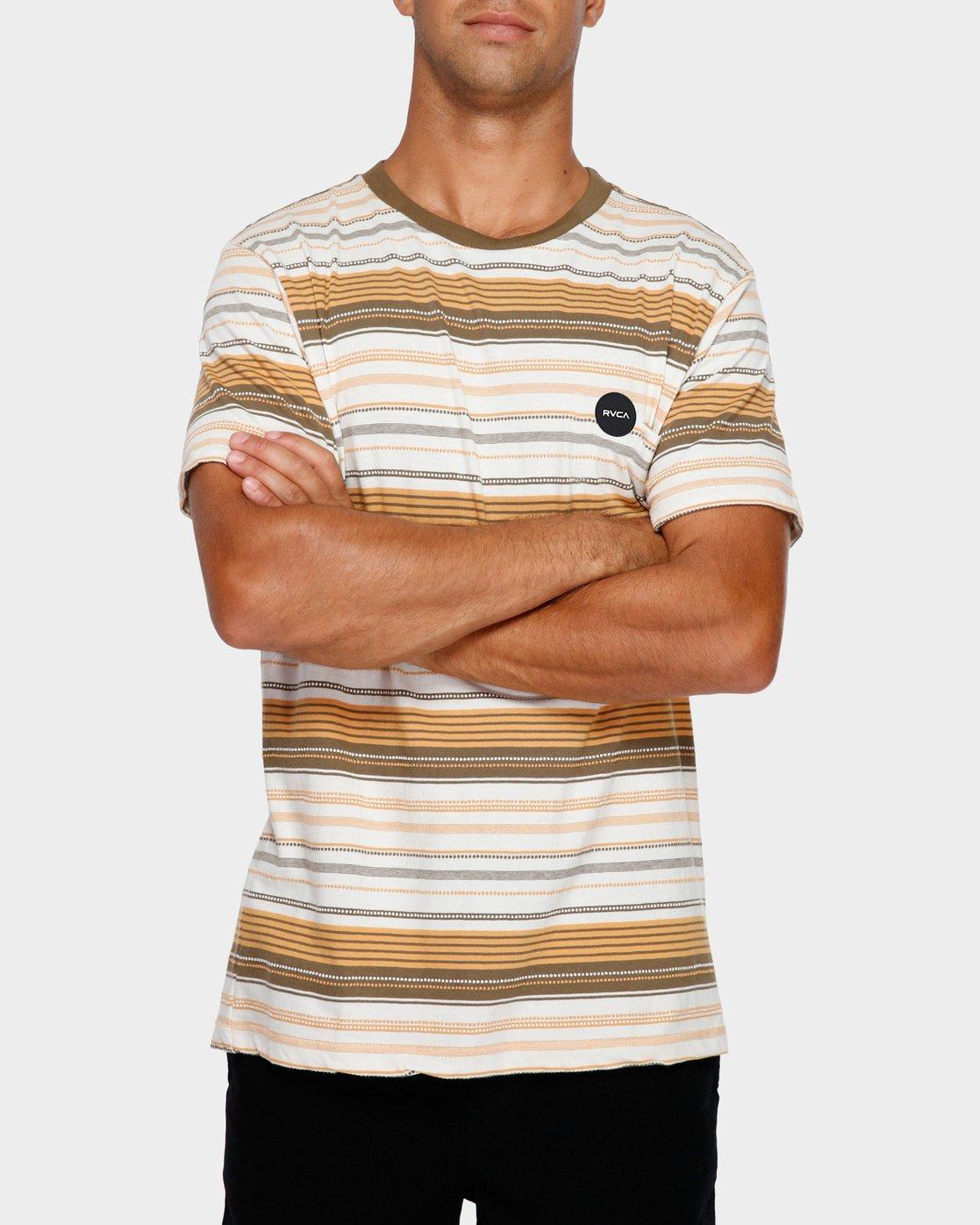 0 Deadbeat Stripe T-Shirt  R191064 RVCA