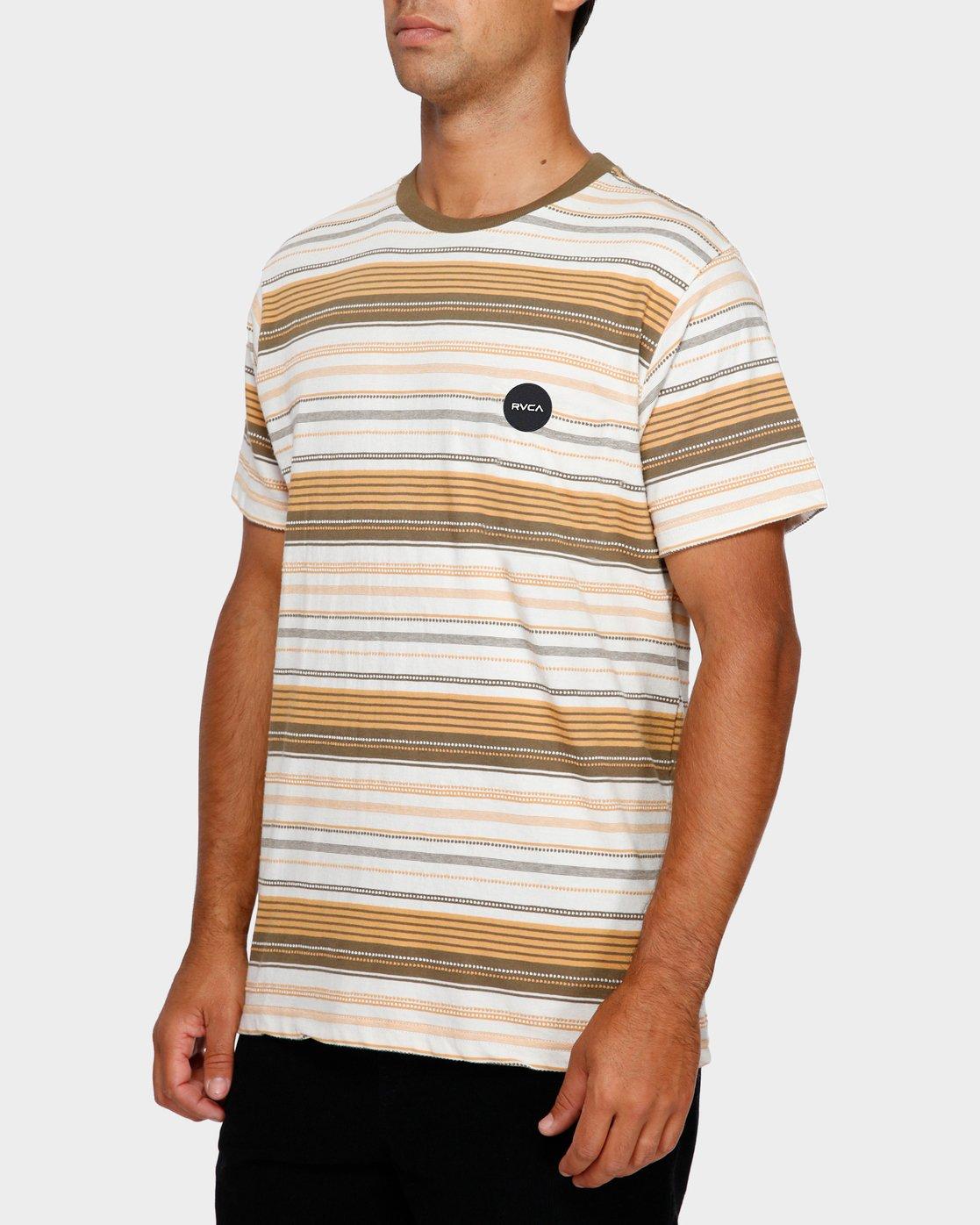 2 Deadbeat Stripe T-Shirt  R191064 RVCA
