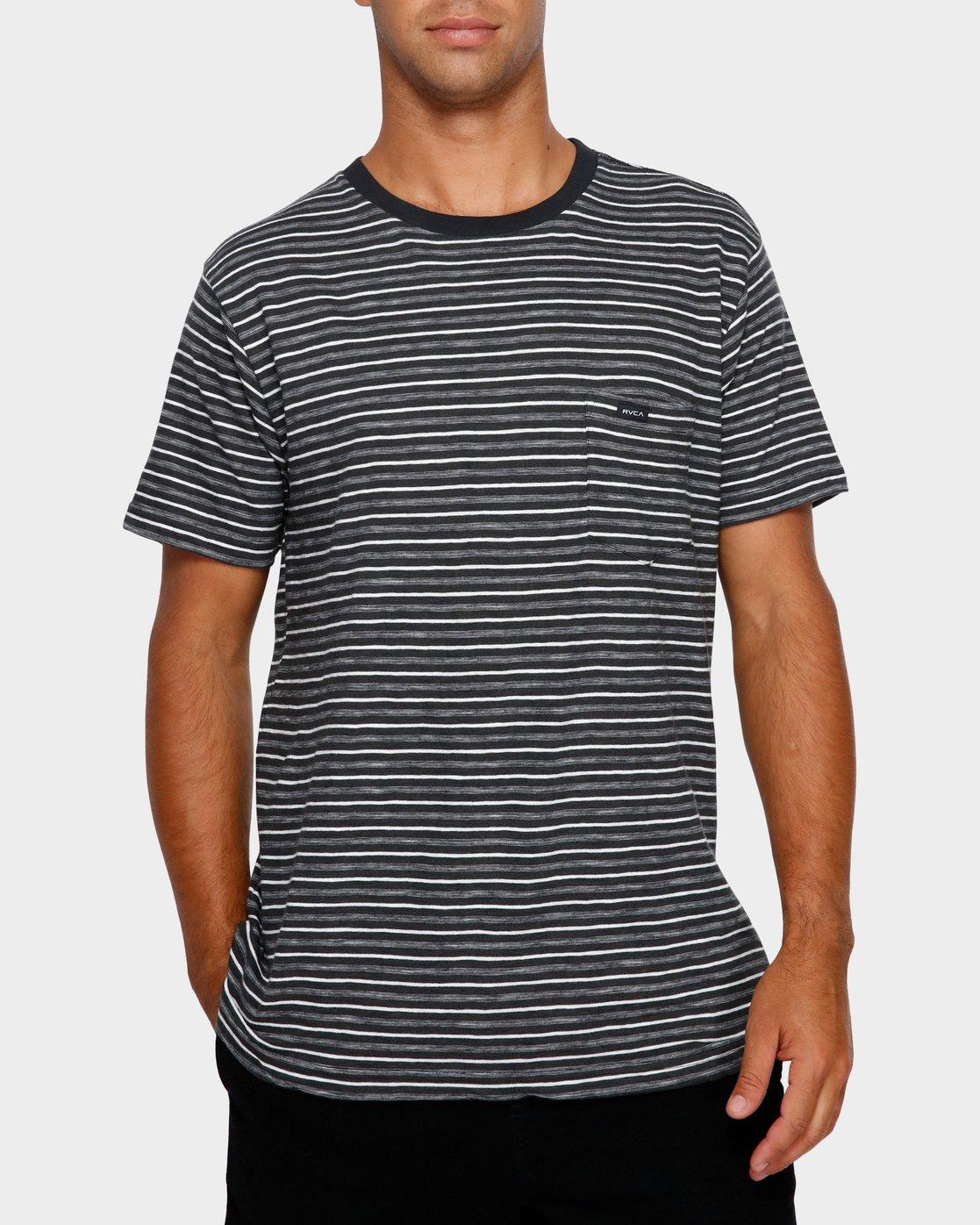 0 Foz Stripe T-Shirt Black R191065 RVCA