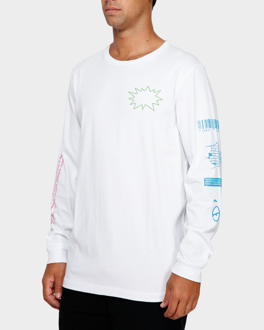 3 Tv Dinner Long Sleeve T-Shirt  R191092 RVCA