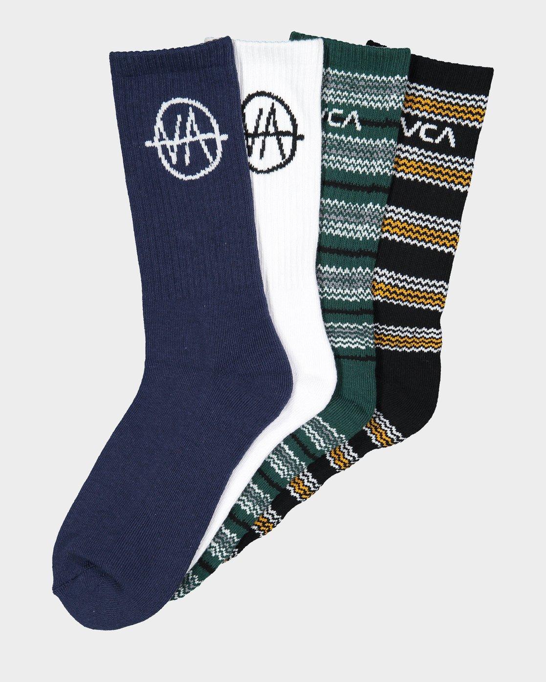 0 RVCA Allsorts Sock 4 Pack  R191603 RVCA