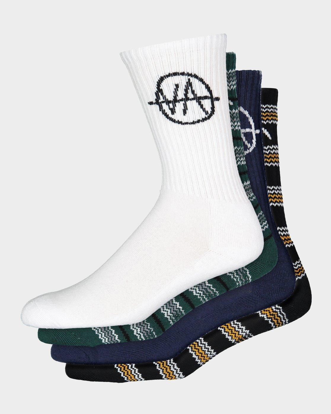 1 RVCA Allsorts Sock 4 Pack  R191603 RVCA