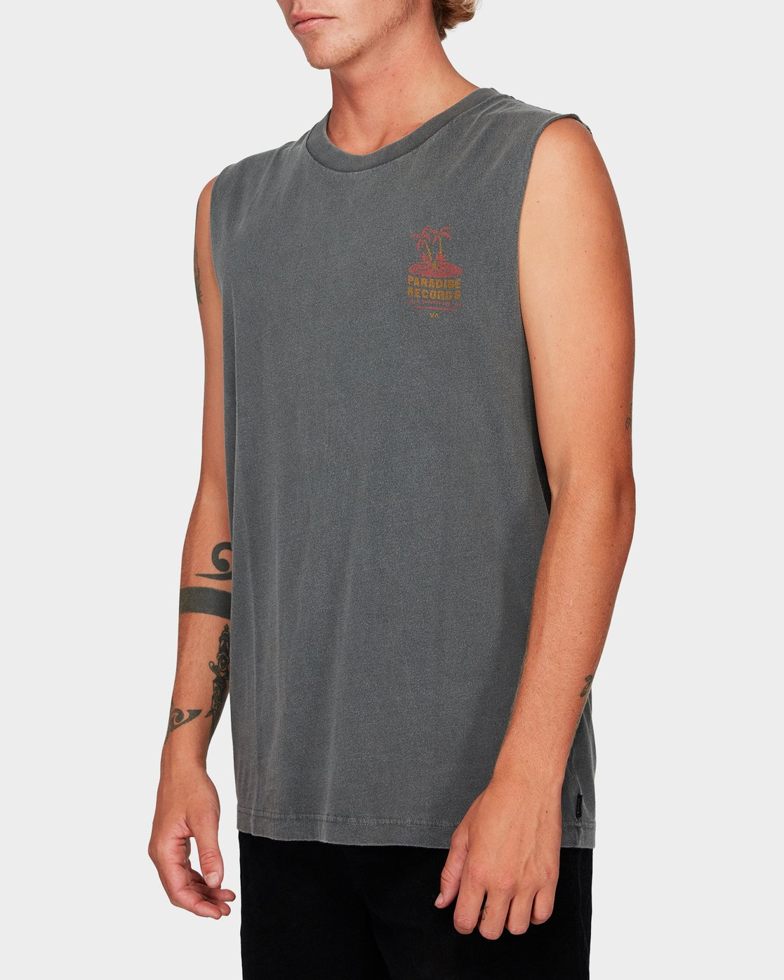 1 Paradise Records Muscle Black R192001 RVCA