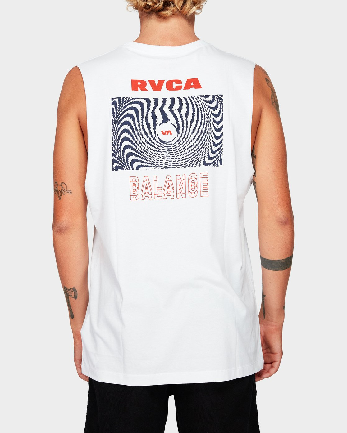 2 Void Muscle White R192012 RVCA