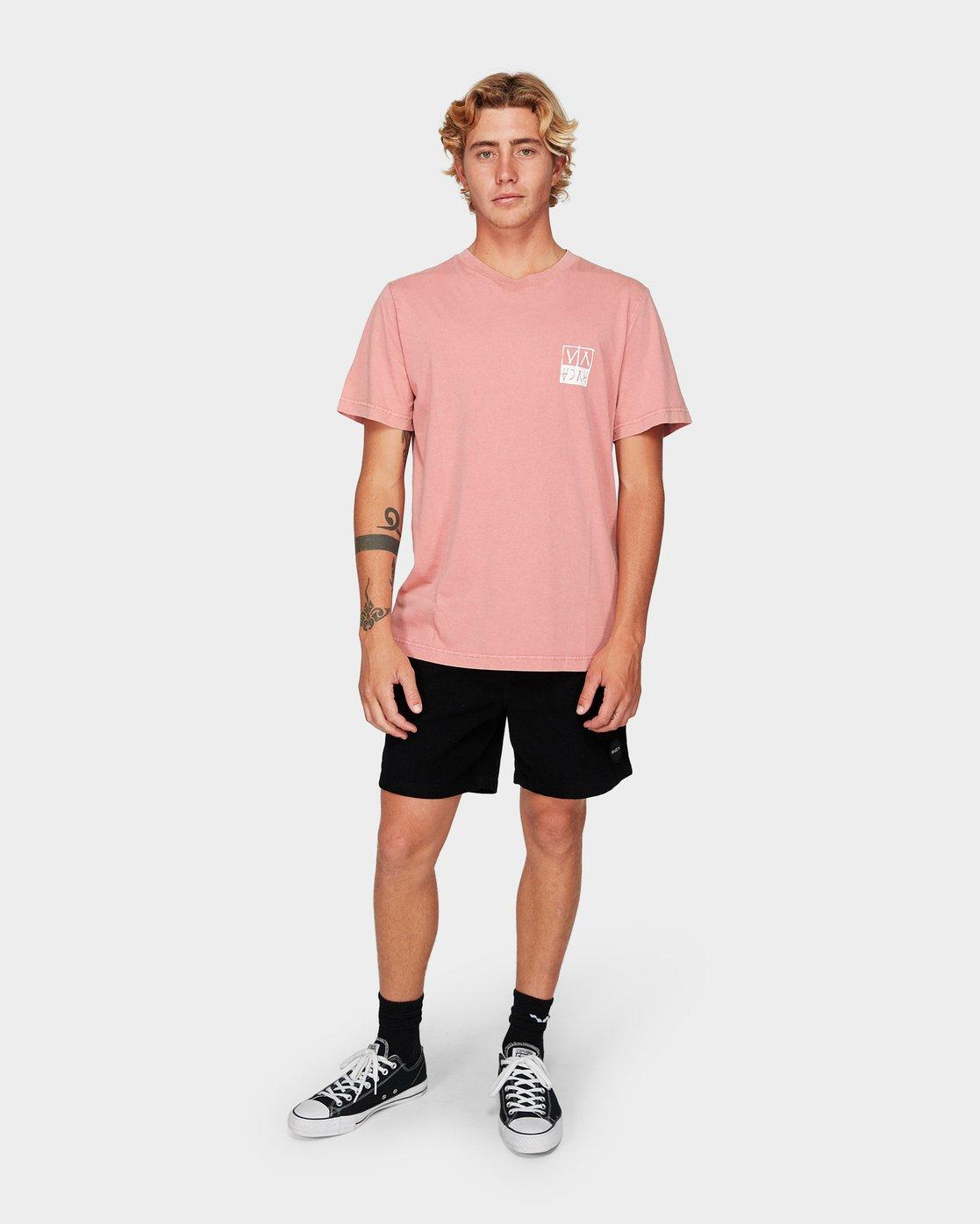 3 RVCA Unplugged Short Sleeve T-Shirt  R192041 RVCA
