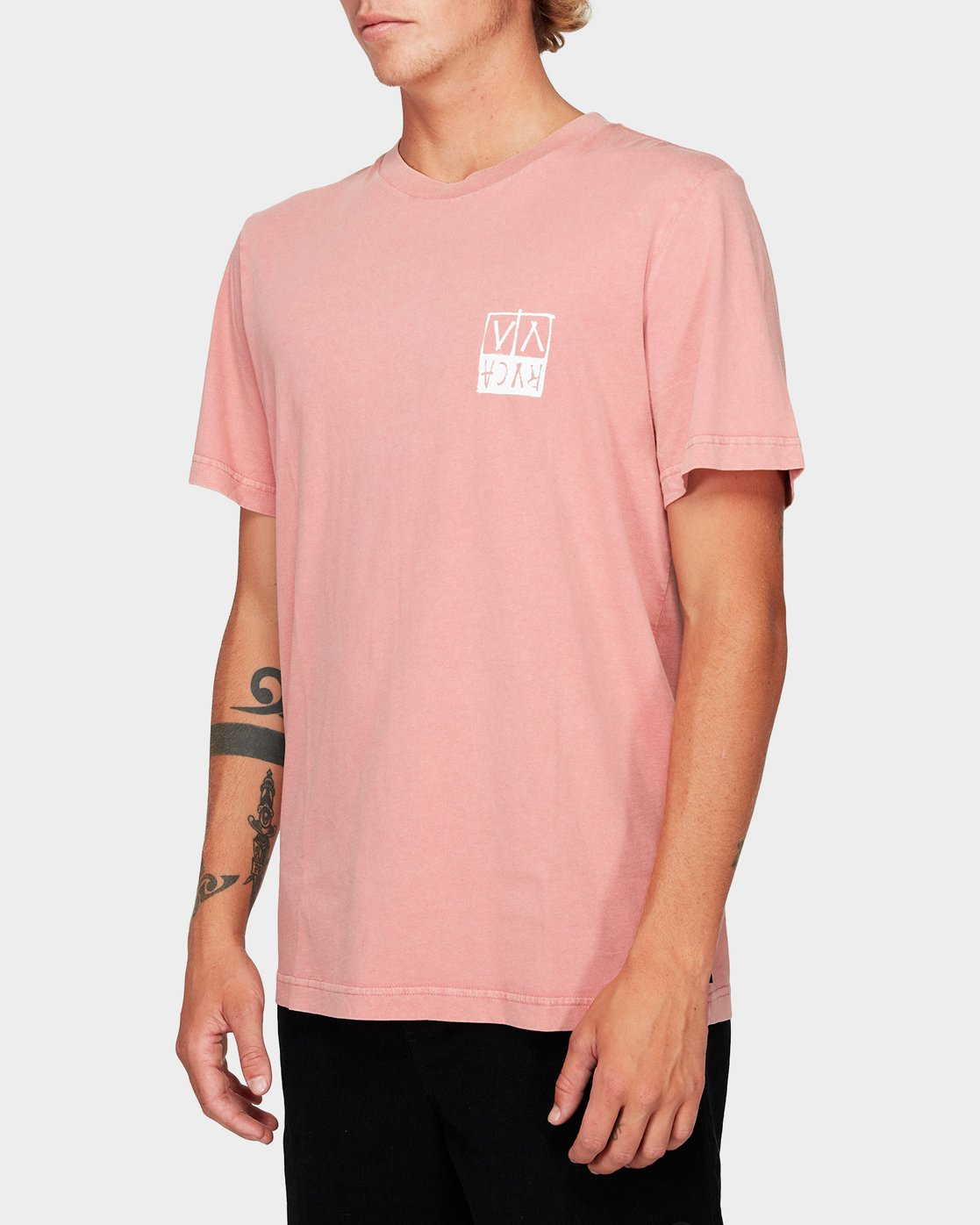 1 RVCA Unplugged Short Sleeve T-Shirt  R192041 RVCA
