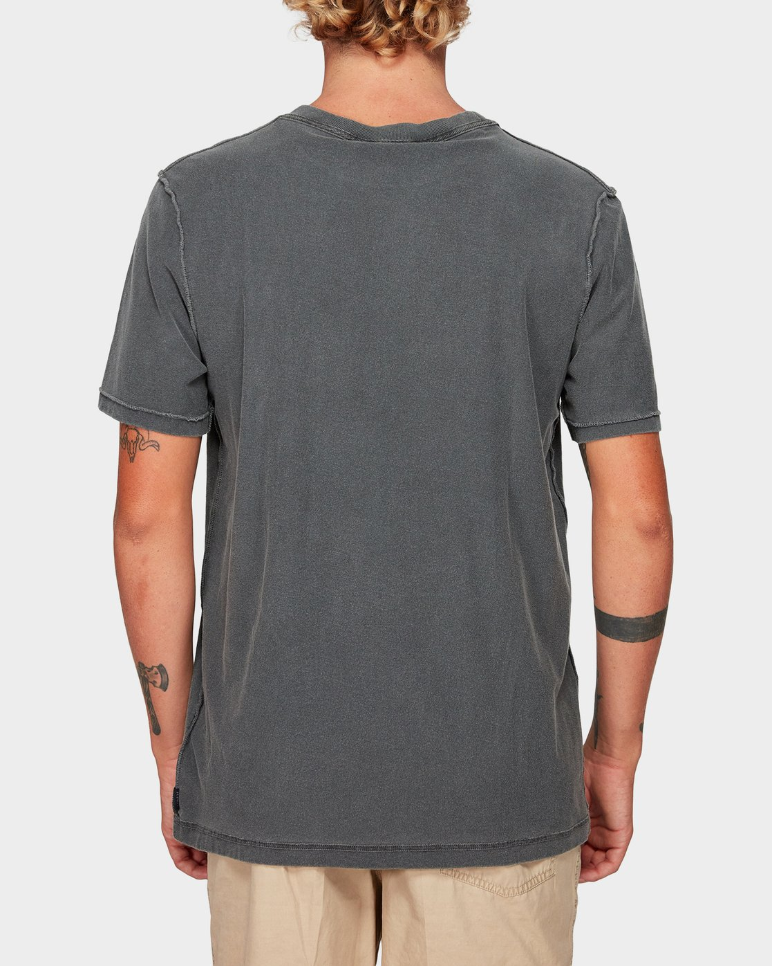 2 Beware Short Sleeve T-Shirt Black R192048 RVCA