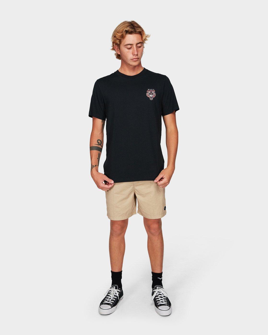 3 Night Luker Short Sleeve T-Shirt  R192050 RVCA