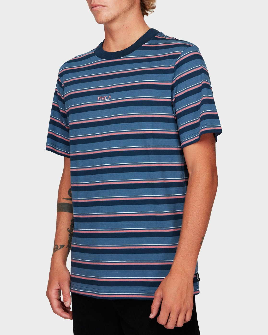 1 Curtis Stripe Short Sleeve T-Shirt  R192052 RVCA