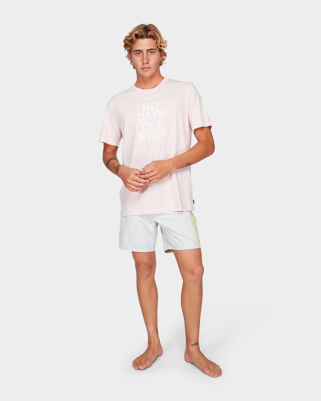 3 No Days Off Short Sleeve T-Shirt  R192058 RVCA